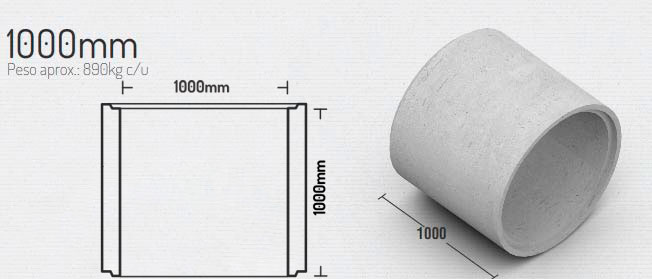 1000mm – Tubos
