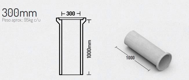 300mm – Tubos