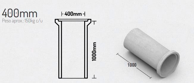 400mm – Tubos