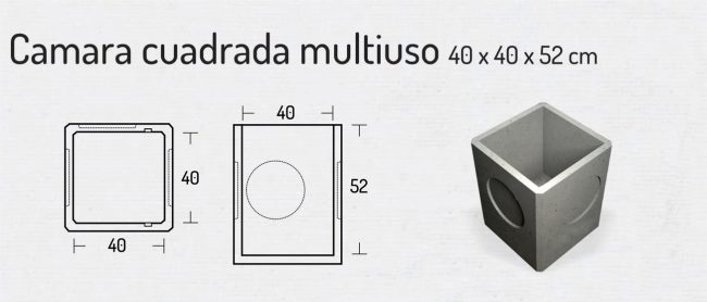 Camara Cuadrada Multiuso 40x40x52cm