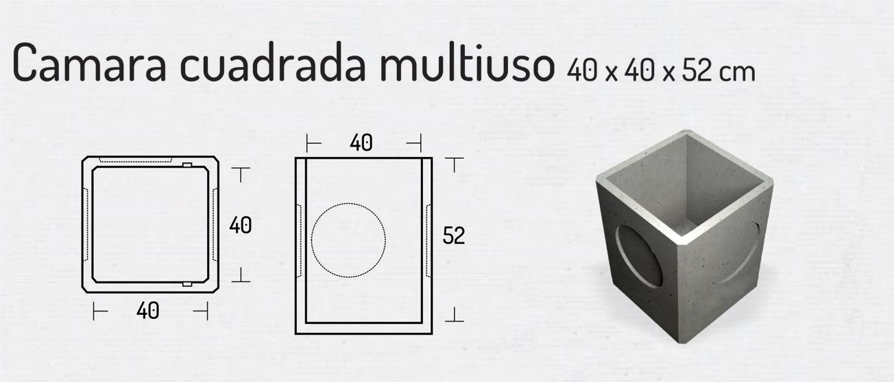 Cámara Cuadrada Multiuso 40x40x52cm – Cámaras Cuadradas