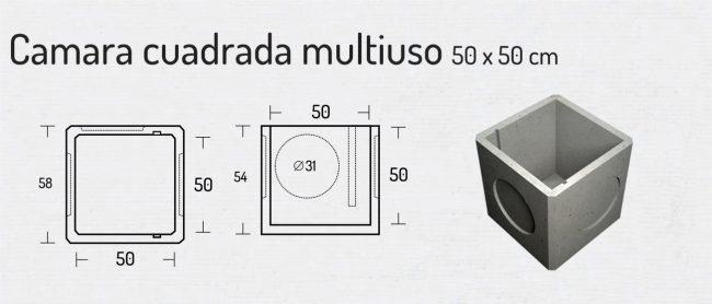 Camara Cuadrada Multiuso 50x50cm