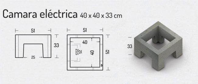 Camara Electrica 40x40x33cm