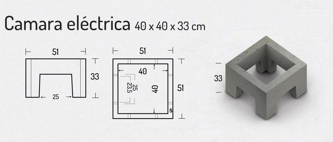Cámara Eléctrica 40x40x33cm – Cámaras Cuadradas