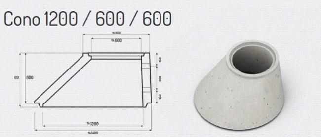Cono 1200-600-600