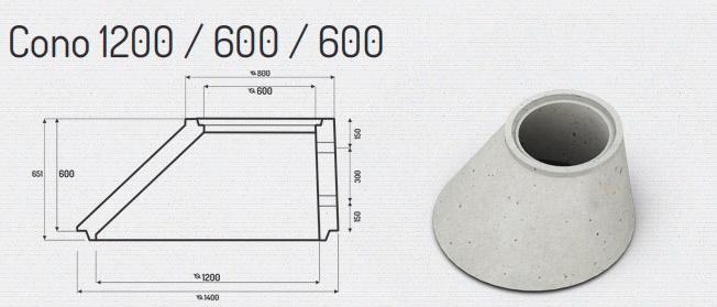 Cono 1200/600/600 – Cámaras para Colectores