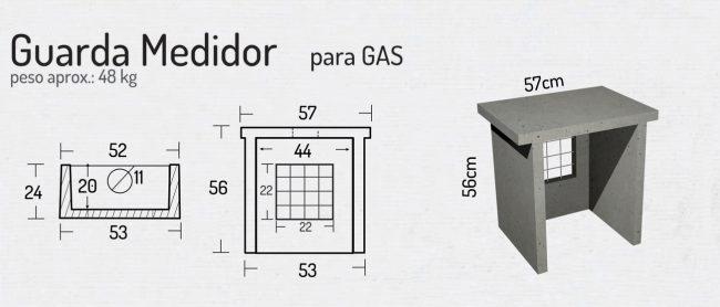 Guarda Medidor para Gas