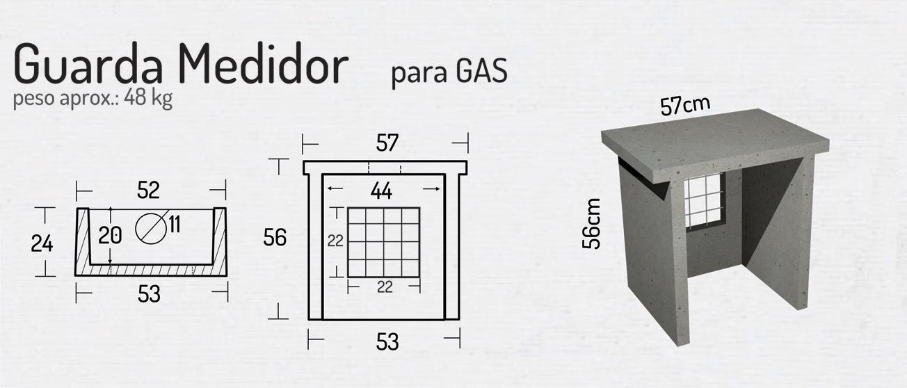 Guarda Medidor para Gas – Piezas de Hormigón