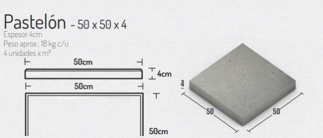 Pastelon 50x50x4cm