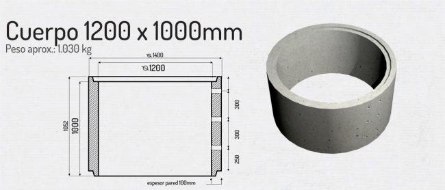 Cuerpo 1200x1000mm
