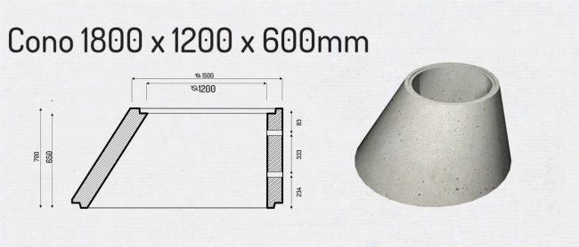 cono 1800x1200x600mm