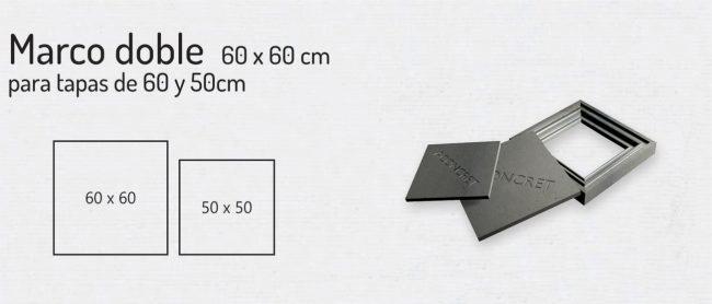 Marco Doble 60x60cm