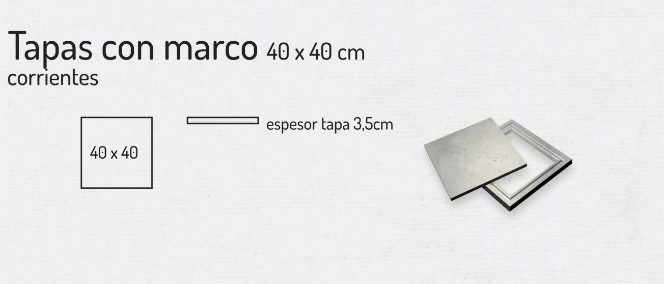 Tapas con Marco 40x40cm – Tapas de Hormigón