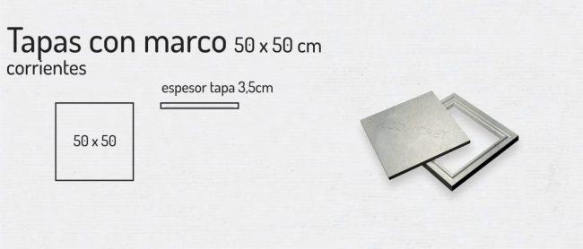 Tapas con Marco 50x50cm