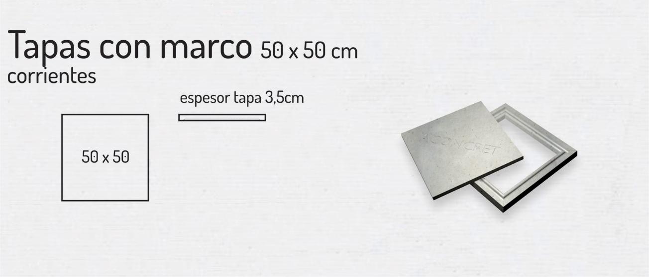 Tapas con Marco 50x50cm – Tapas de Hormigón
