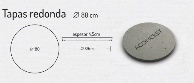 Tapas Redonda 80cm