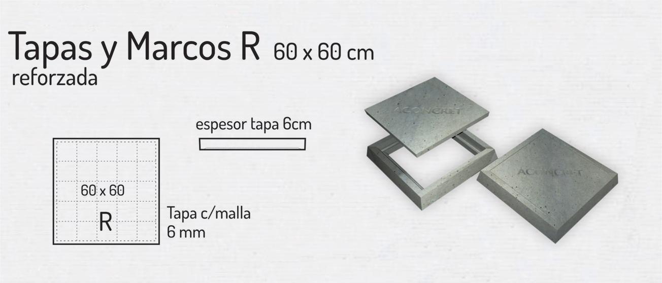 Tapas y Marcos R 60x60cm – Tapas de Hormigón