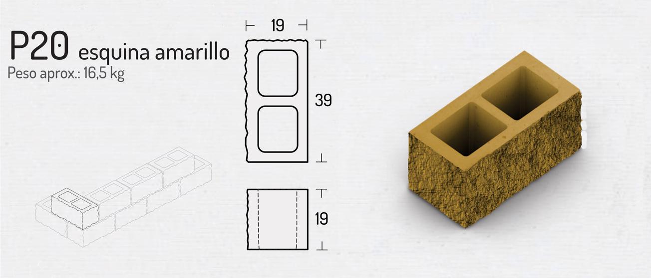 P20 Esquina Amarillo – Bloques de Hormigón