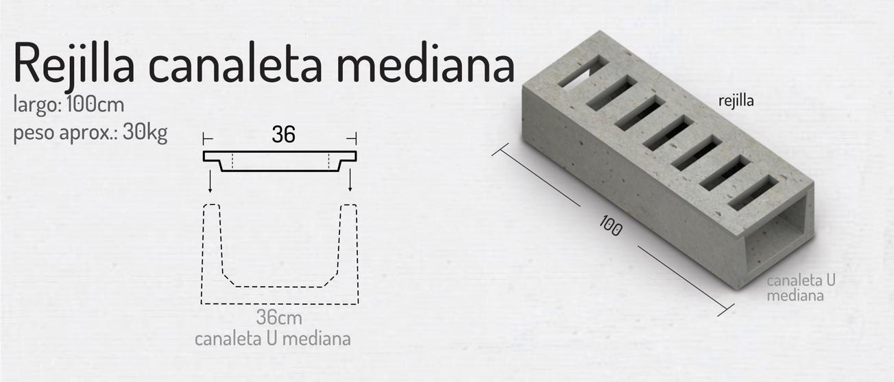 Rejilla Canaleta Mediana – Piezas de Hormigón